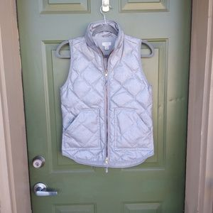 J Crew Textured Quilted Puffer Vest